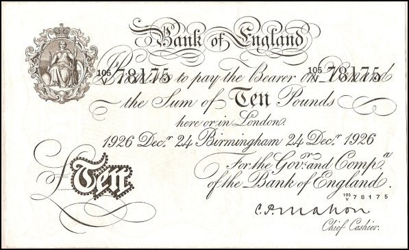1759 ten pound note